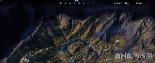 在孤岛惊魂5游戏中,除了筒仓之外,狼信标也是玩家需要找游戏地图上面图片