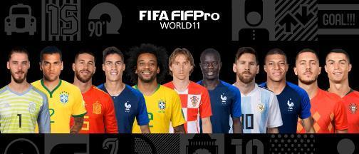 FIFA最佳阵容:皇马四星领衔 梅罗+姆巴佩入选