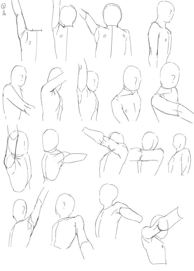 人物手臂绘画教程