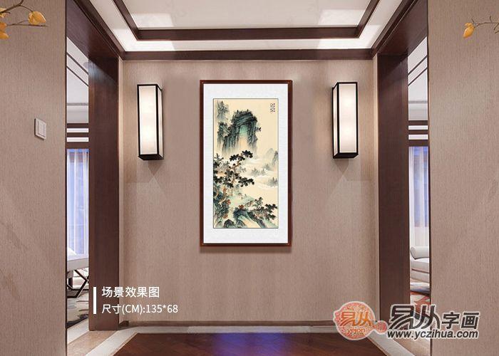 中国画的装饰作用:为什么要用山水画来装饰玄关?