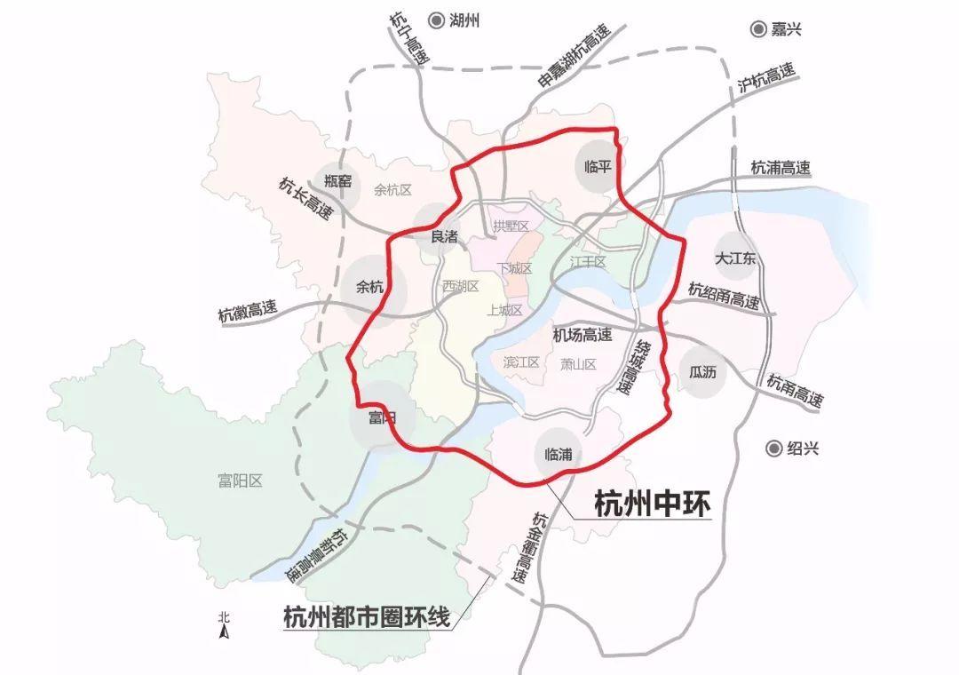 杭州中环规划图