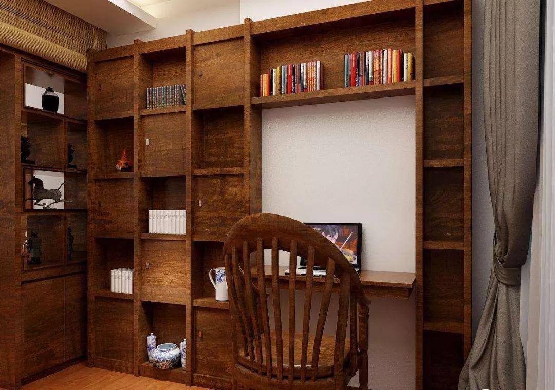 看图学装修! 9组精美中式书柜效果图设计