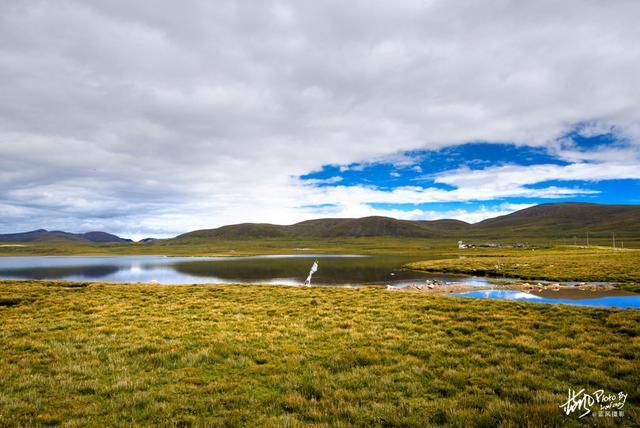 西藏,拉萨河源头的麦地卡湿地