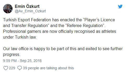 土耳其给电竞职业选手运动员身份 选手签证不再是问题
