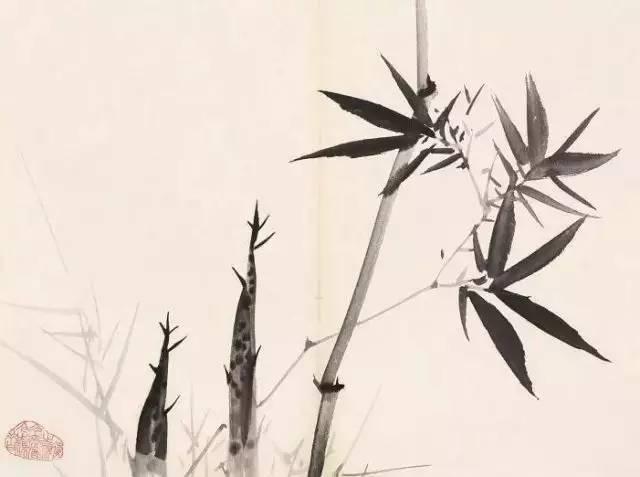 现当代名家:柳子谷画竹作品欣赏图片