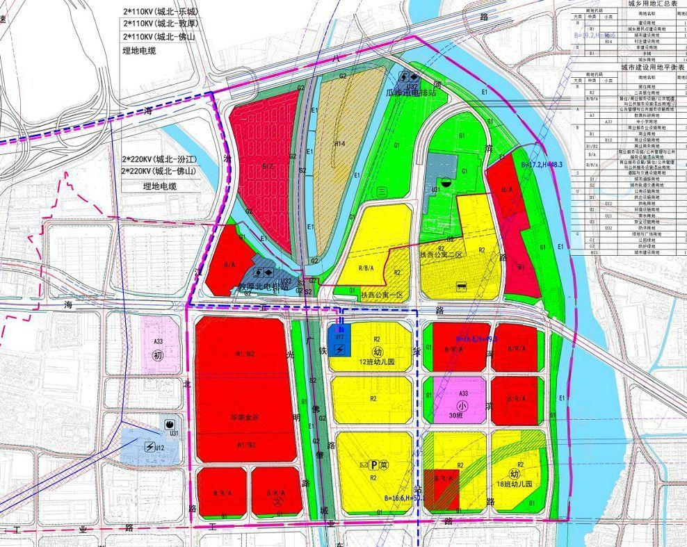 龙南县桃江片区规划图