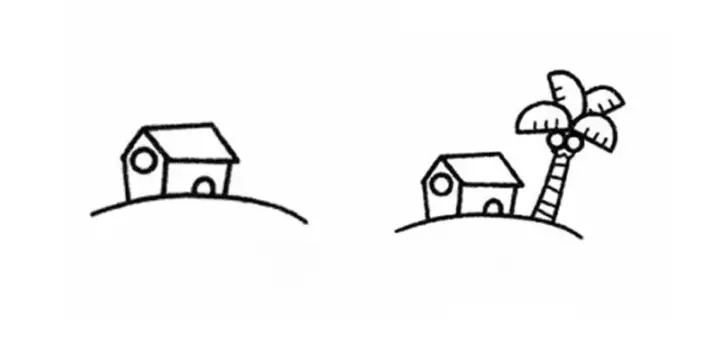 四季简笔画,附详细步骤,为孩子收了