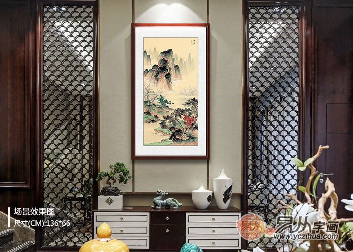 新中式客厅装饰画搭配法  原来家可以这么美