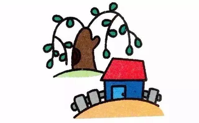 四季简笔画,附详细步骤,为孩子收了!