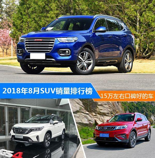 """8月15万左右SUV销量出炉,哈弗H6当之无愧的""""中国神车"""""""
