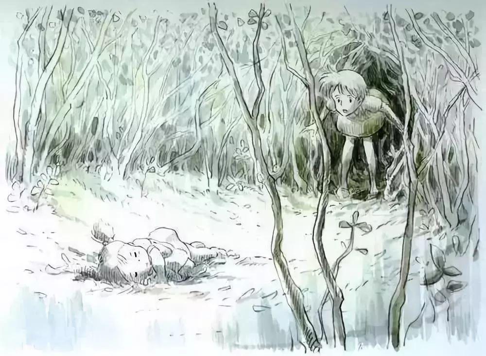 宫崎骏手稿原画