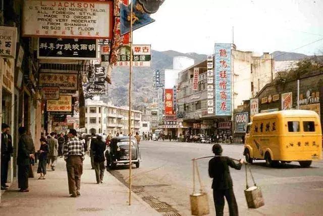 记忆香港 五十年代初香港的特色街道图片