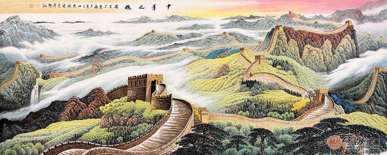 长城画欣赏——千里江山一幅画,万里长城定乾坤