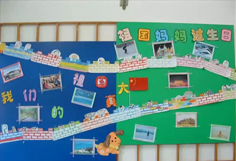 幼儿园国庆节主题墙设置,底部附8款主题活动方案,国庆图片
