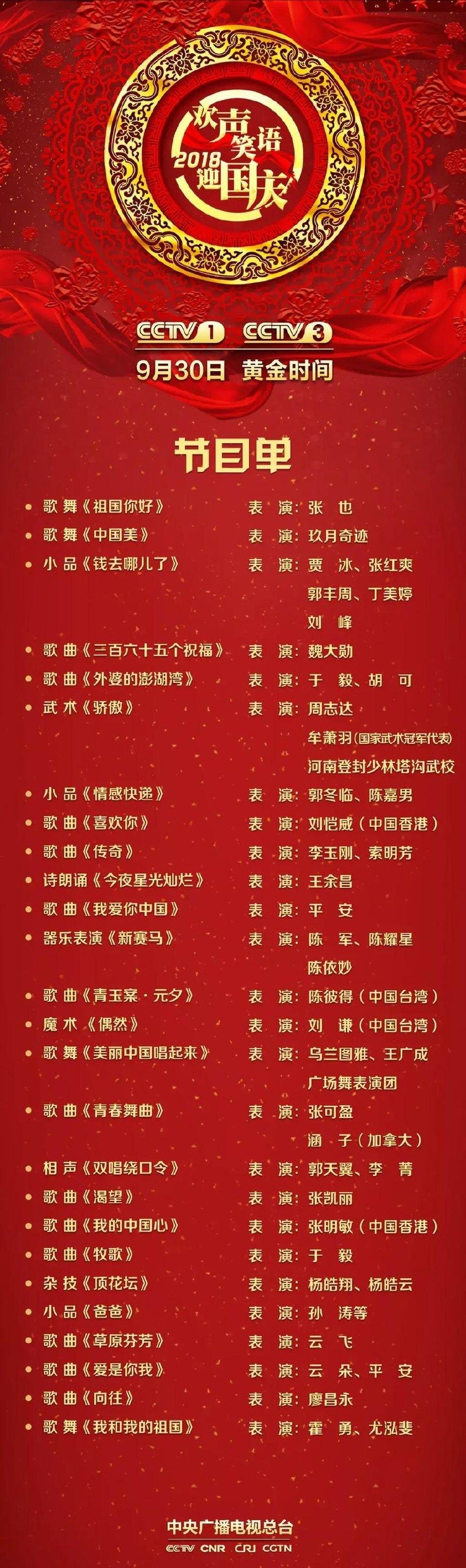 二,《中国梦·祖国颂》国庆晚会