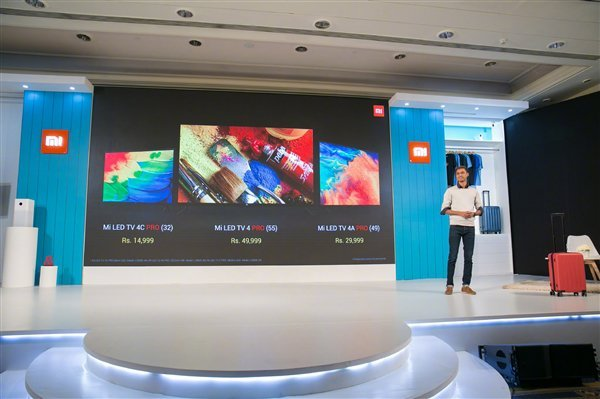 小米电视 4 Pro 55 英寸颁布匹:4.9mm 超薄机身 4700 元