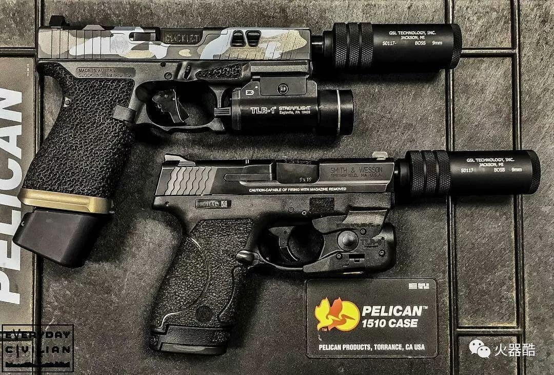 加装消音器的轻武器图集