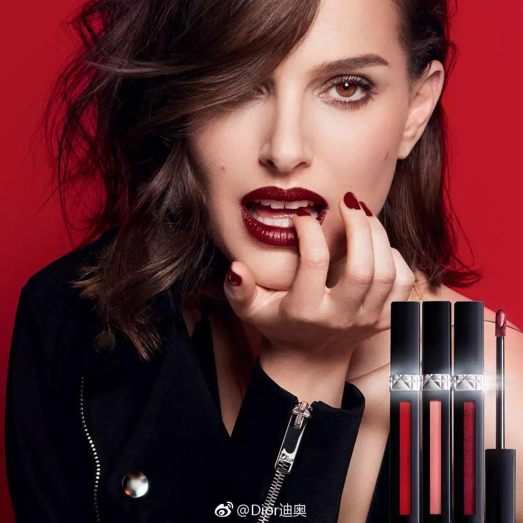 比如全新miss dior迪奥小姐香水和烈焰蓝金系列口红代言人娜塔丽
