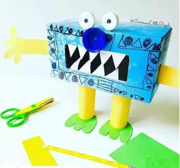 【手工】纸盒废物利用,创意制作,轻松解决幼儿园作业图片