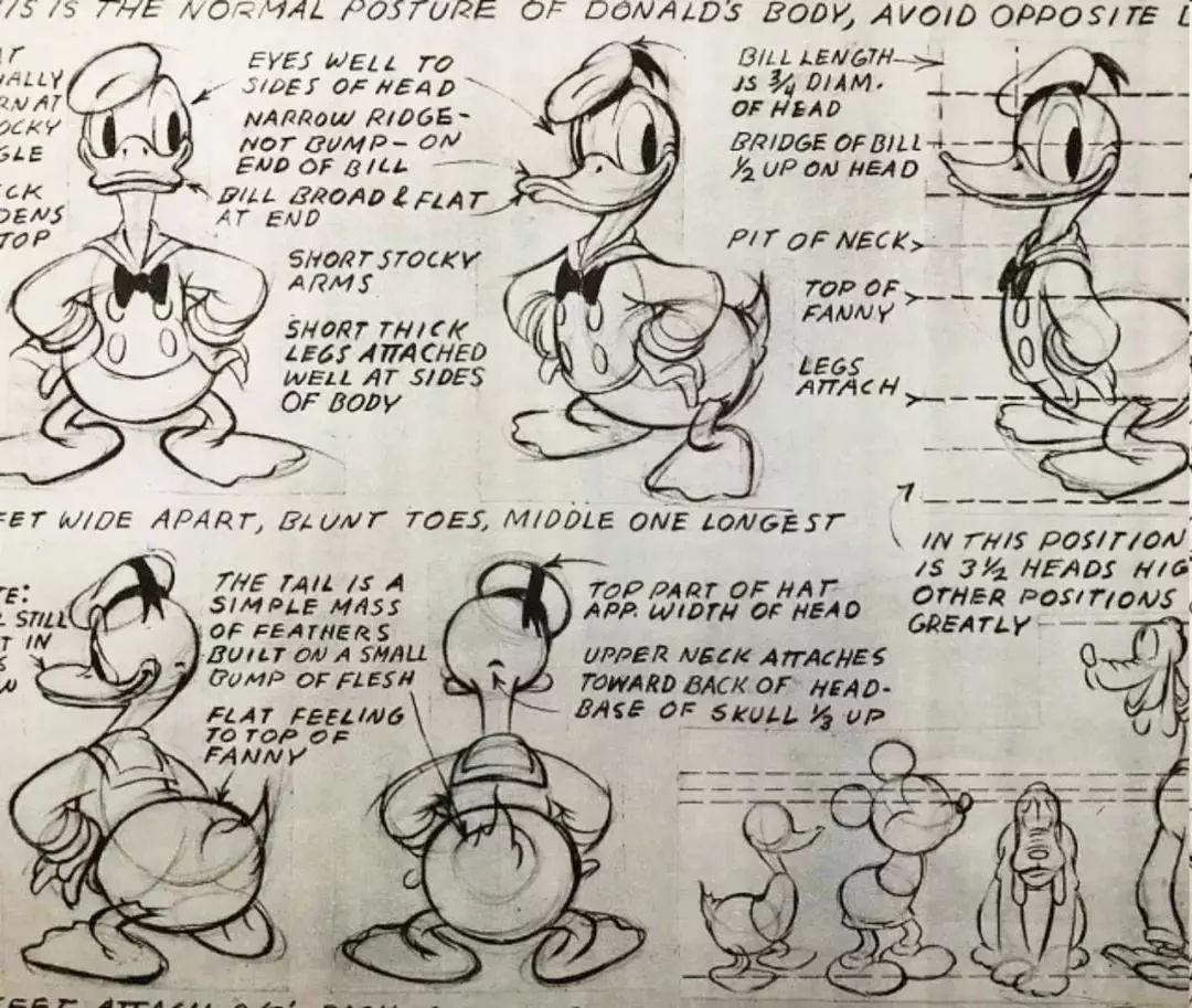 米奇的铅笔手绘稿, 如今霸占影视动漫半壁江山的迪士尼, 在这些原始