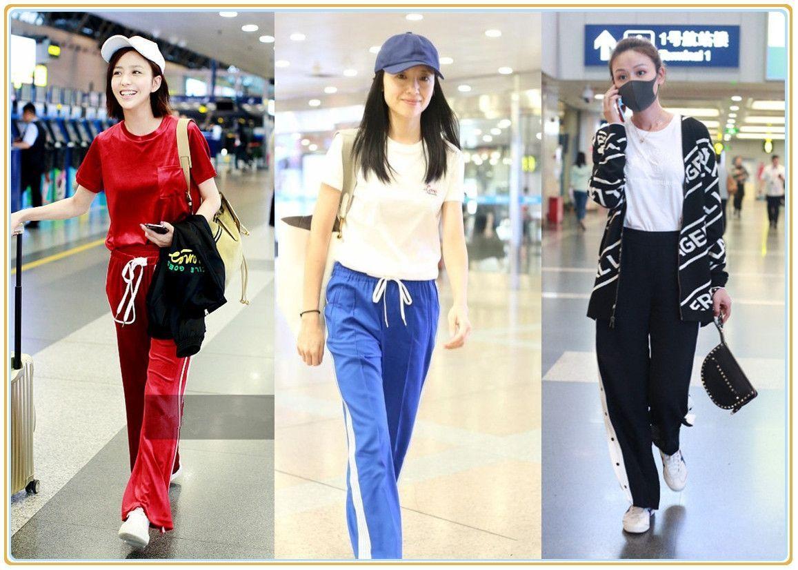 当辣妈同穿运动裤,佟丽娅少女,叶一茜女神,董洁却被秒成路人?
