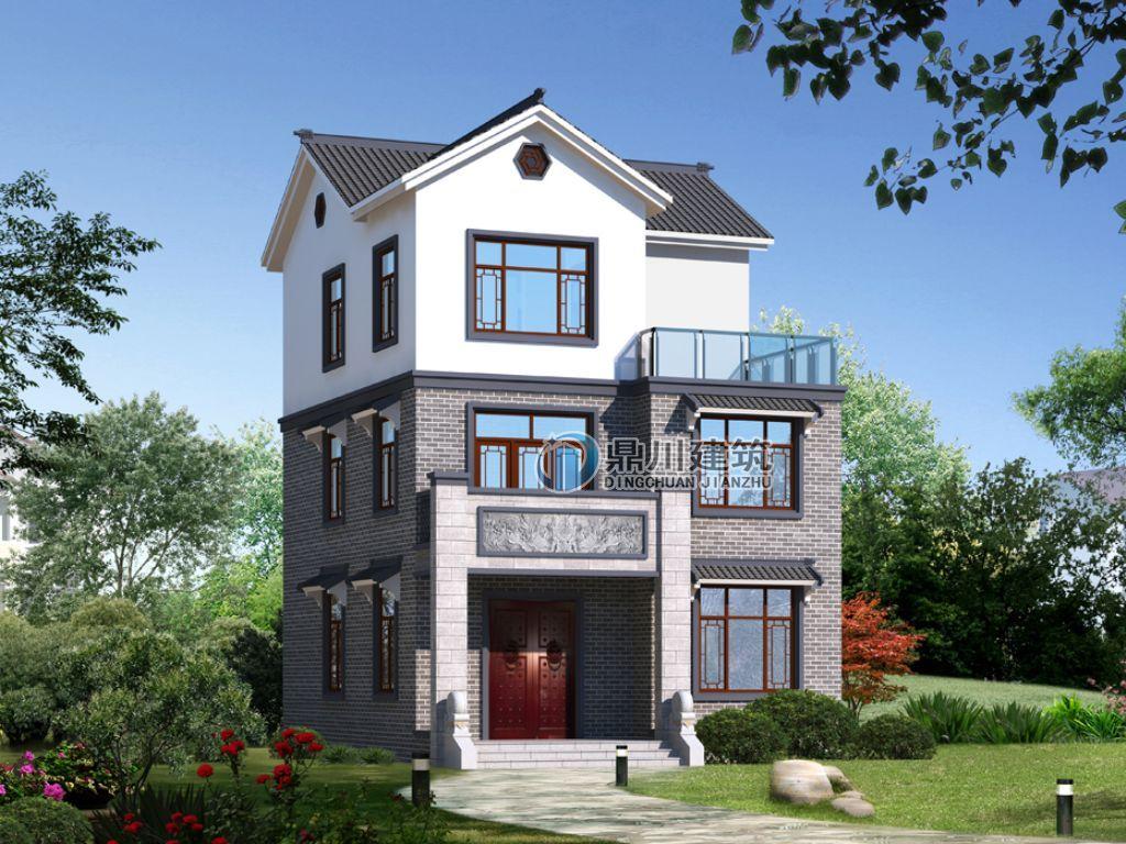 【新款】这款占地96平,造价才24万的三层中式小别墅,在农村最吃香!图片