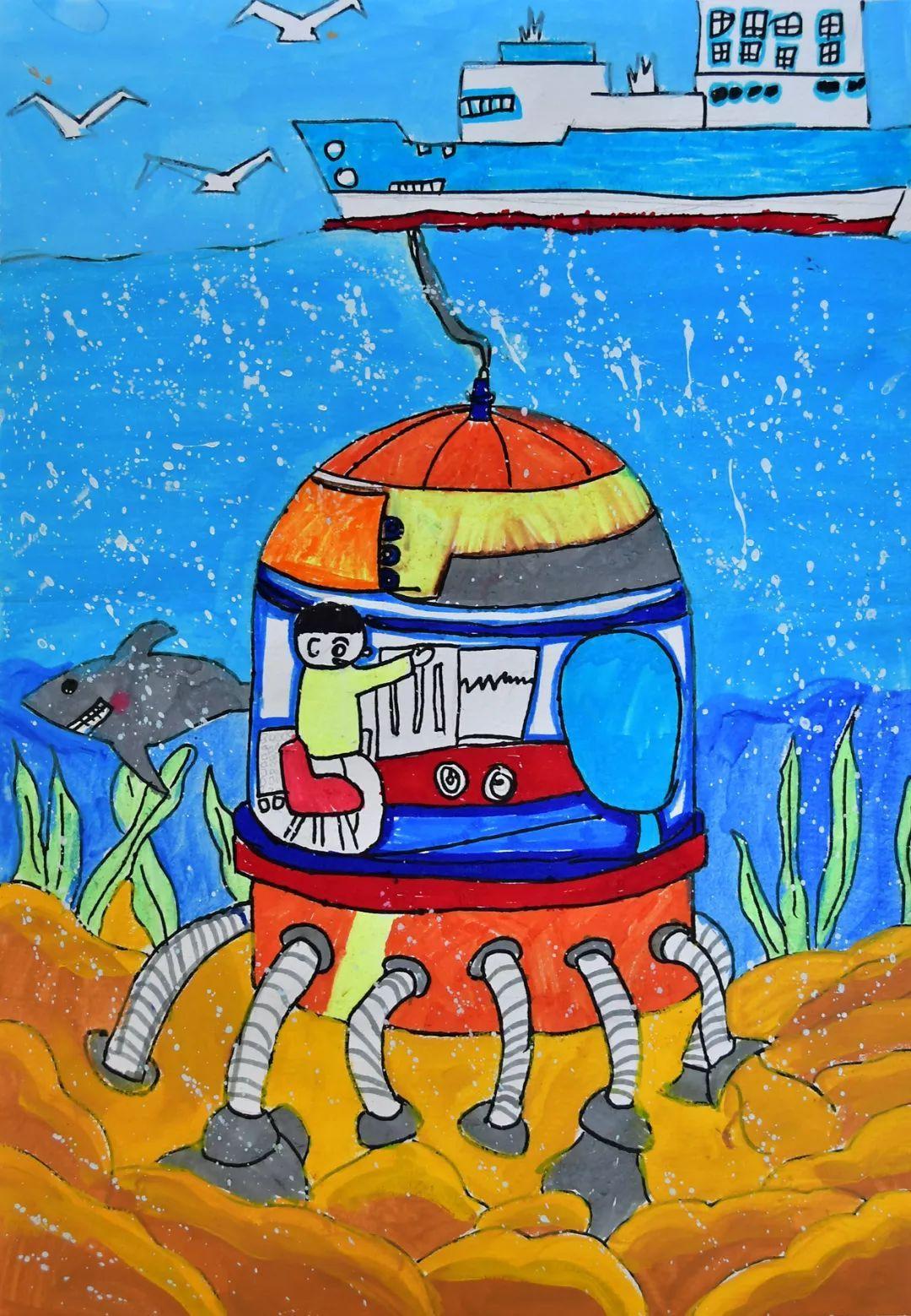 """本次科幻画作品征集从9月1日开始,要求学生围绕着主题""""创新·体验图片"""