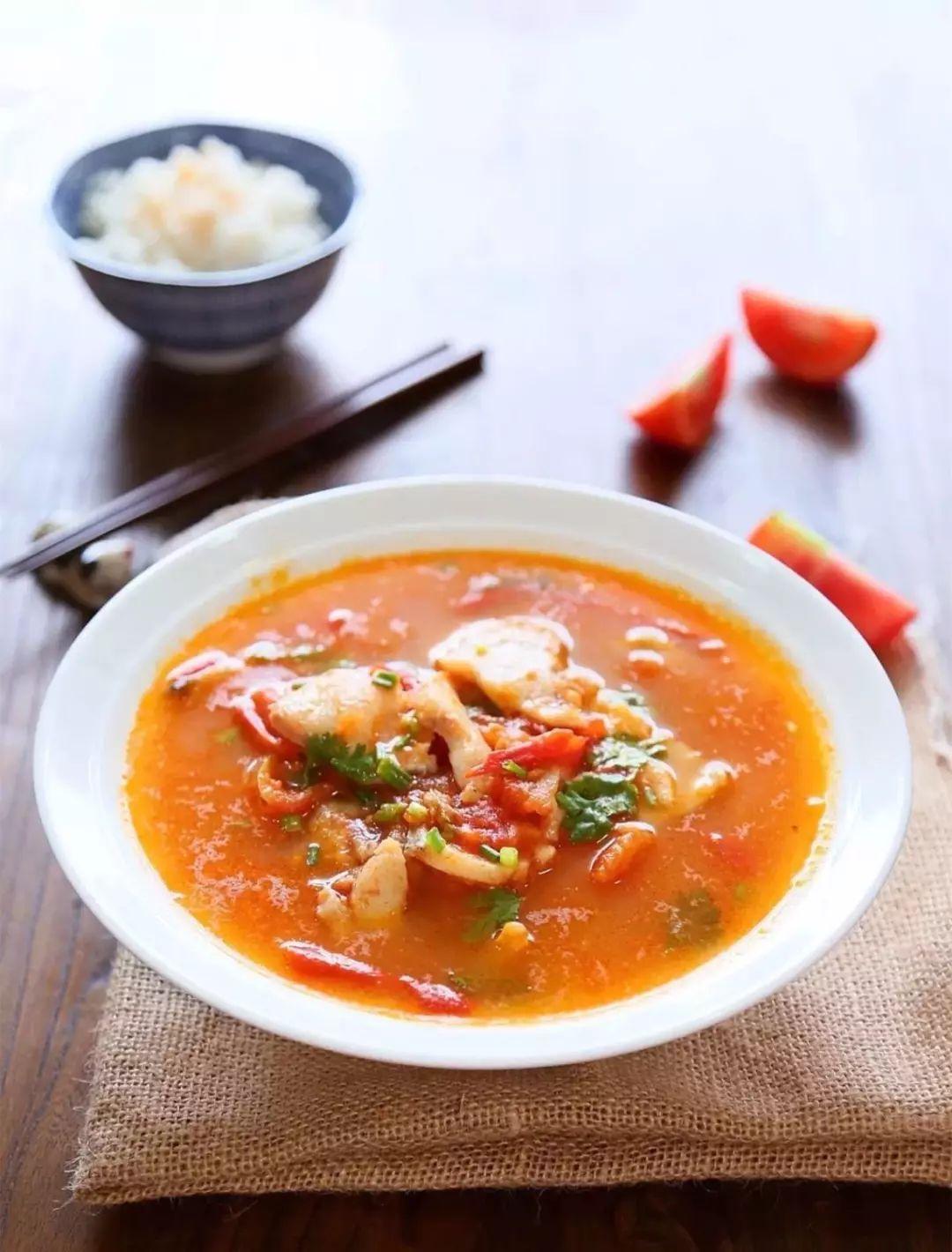 西红柿鱼片汤,美味又营养!