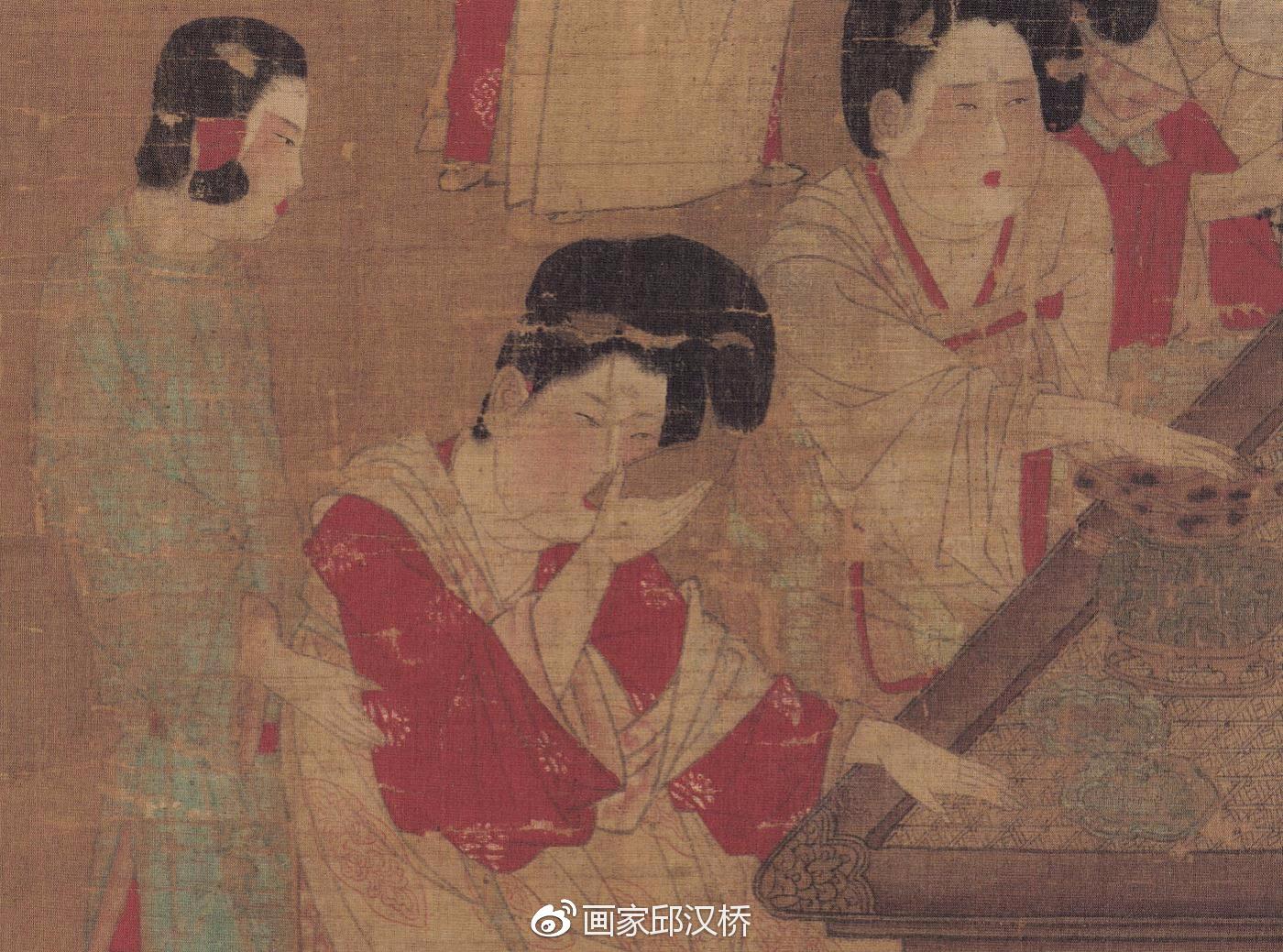 古代宫廷盛装 手绘板