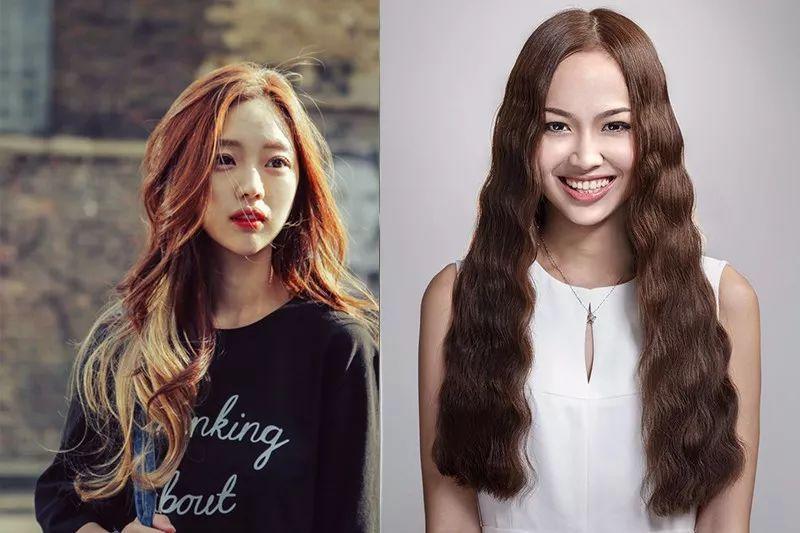 烫发发型,她的海藻头火了减龄显脸小!图片
