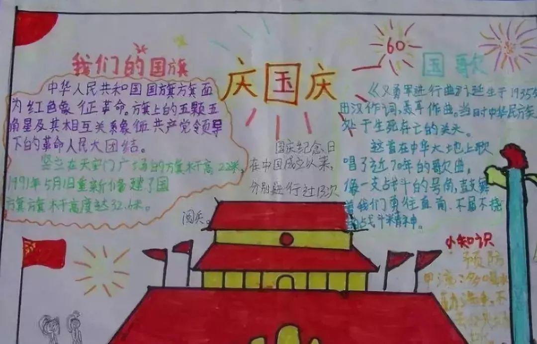 国庆节手抄报图1