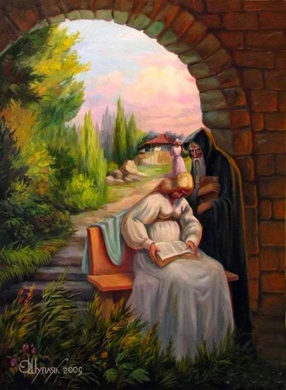 这是一幅风景画,还是老爷爷呢?