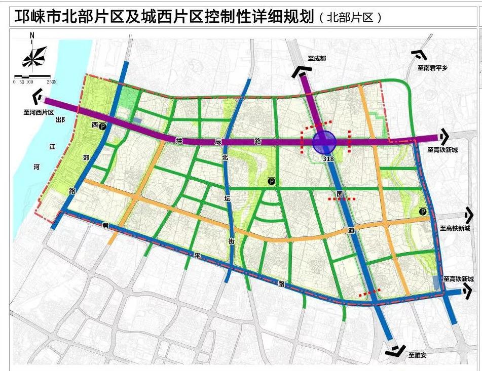 黄冈市城北片区规划图