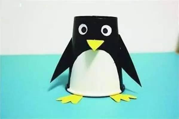 【创意手工】6种不同材料制作的小企鹅,只要两分钟就可以学会啦