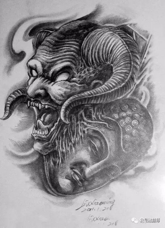 我是雕刻师,佛像手稿雕刻图谱素材素描纹身中国建筑设计研究院张图片