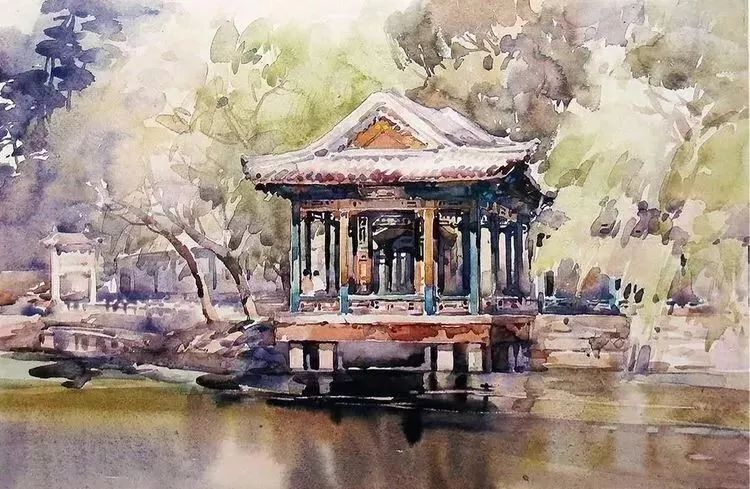 清华才女笔下的中国水彩画