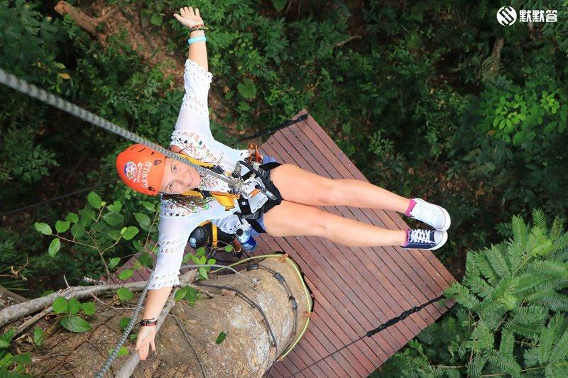 【玩樂@普吉】乘坐雲霄飛車一樣在高空中體驗刺激滑行-Hanuman Wo