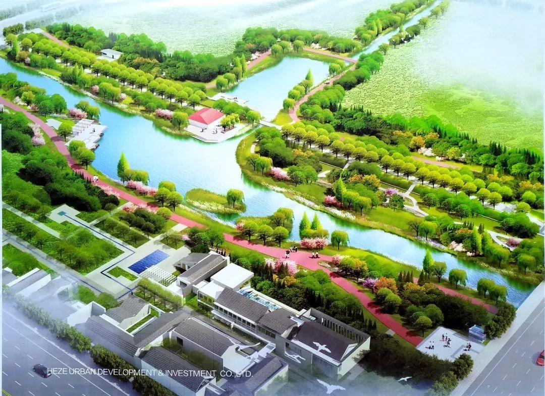 菏泽:环堤公园,打造城市新名片!_古城图片