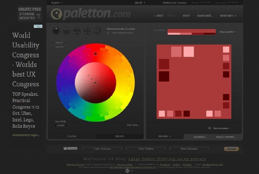 干货分享——设计师必备15个超赞的配色网站,无需翻墙