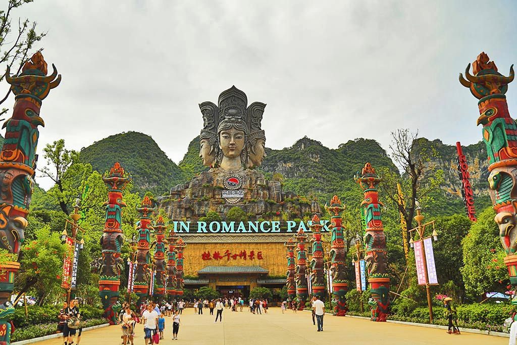 桂林千古情景区内好玩的项目真是丰富