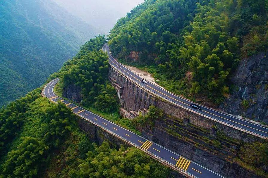 【旅游】萧山和周边私藏了9条盘山公路,窗外风景美到逆天!