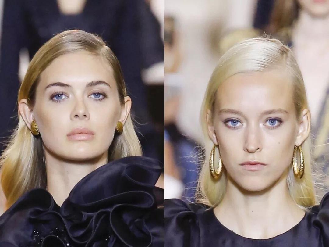 elie saab的模特妆容以清透裸妆为主,眉毛是自然细眉,当然也少不了眉
