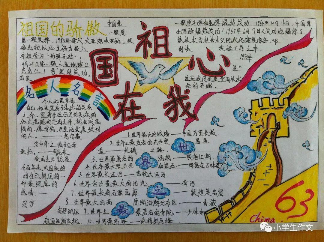 班主任推荐 国庆节作文 游记范文 手抄报模板 简笔画 快收藏