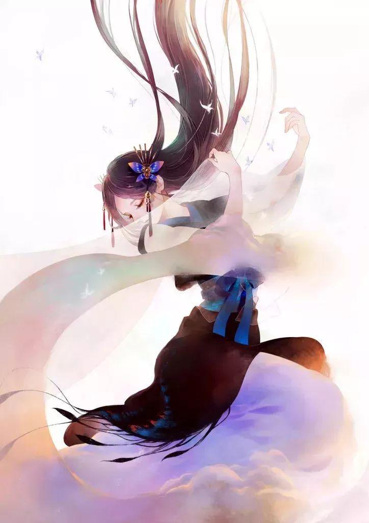 日本小哥笔下仙气飘飘的古风插画,治愈人心,画风美哭!
