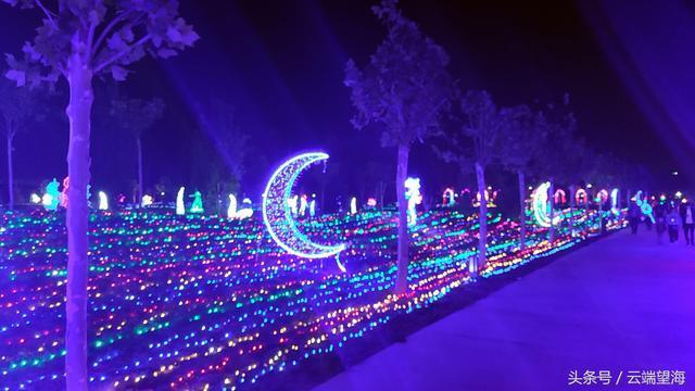 主会场花灯 月牙灯 中国梦花灯 循环变色走廊灯