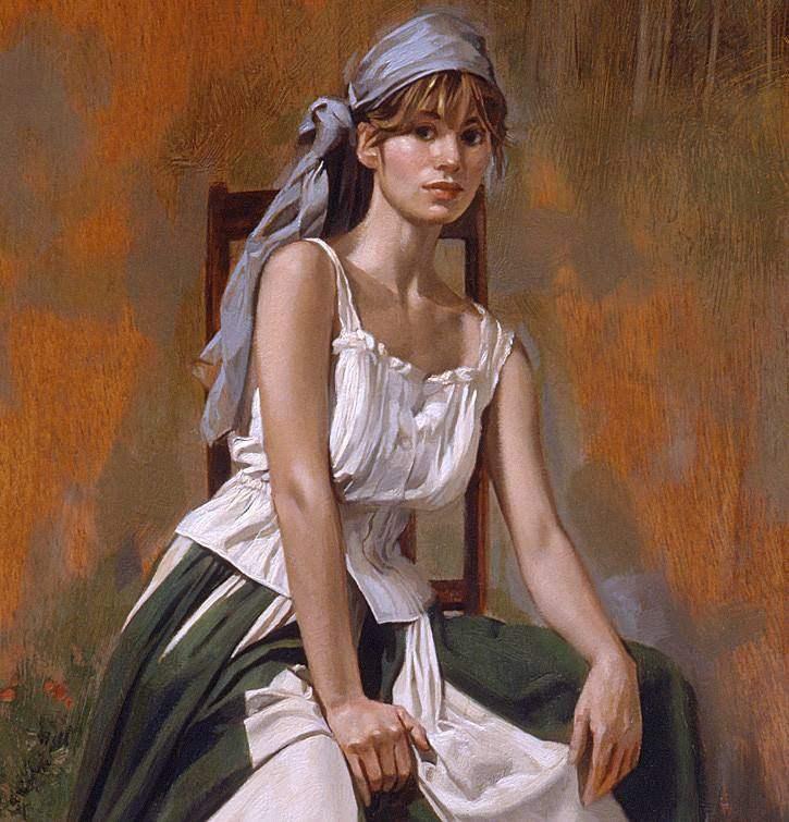 品析水彩绘画的语言魅力,经典水彩人物画欣赏,蕙质兰心的美女!