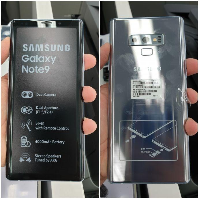 三星galaxy note2蓝_三星Galaxy Note 9银色版真机现身_于三星