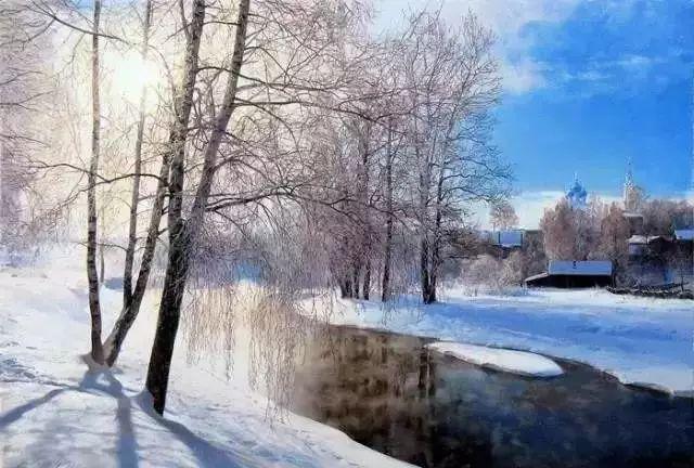 畫中的女子,美得像詩!風景畫還是那么美.
