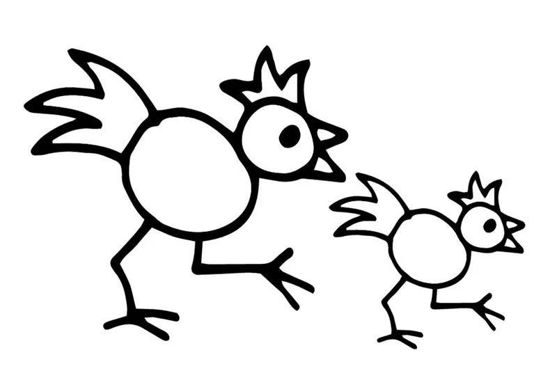 儿童简笔画教程,教宝宝画大公鸡!