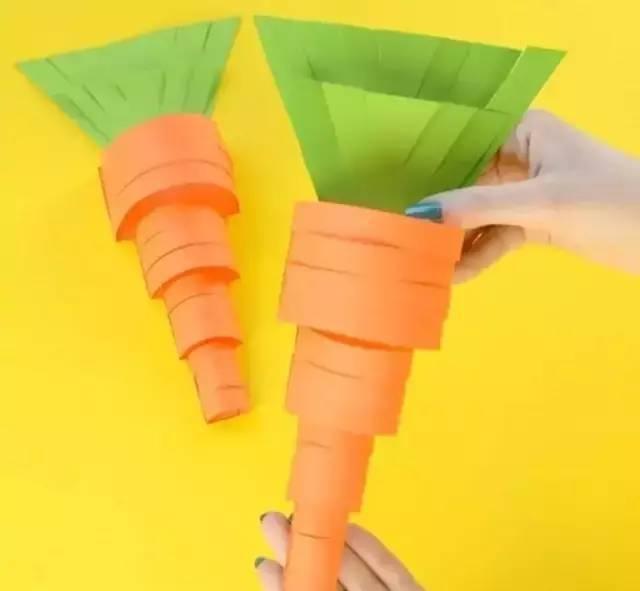 正文  制作步骤:分别用红色,绿色卡纸打印或画出如图模板 纸条胡萝卜